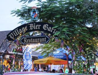 previous Oktoberfest setup at Village Bier Garten