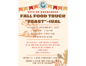 """2021 Rockledge Fall Food Truck """"Feast""""-ival Flyer"""