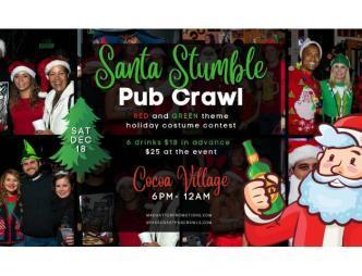 2021 Santa Stumble Cocoa Village Banner