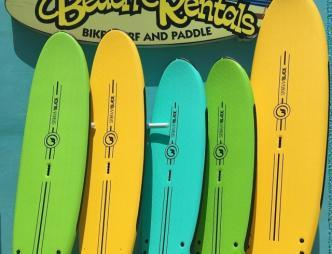A1A Beach Rentals Surfboards with Sign