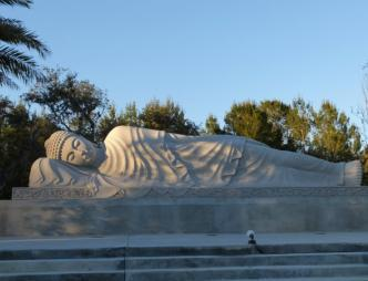 White Sands Buddhist Center Lounging Buddha