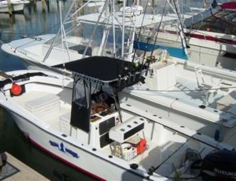 A charter boat for Blue Heron Fishing Charters