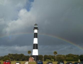 Cape Canaveral Lighthouse with Rainbow