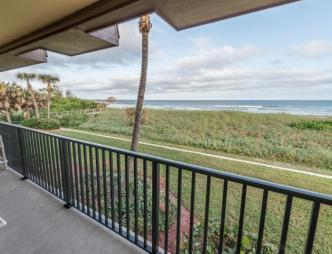 Cocoa Beach Club Condominium balcony view of the ocean