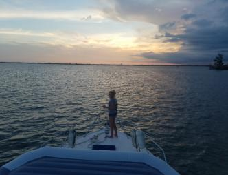 Ending a beautiful day at Peace Keeper Charters