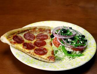 Kelsey's Pizzeria and Eatery- Titusville Slice of Pepperoni Pizza and Salad