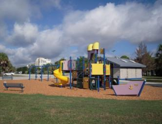 The playground at Lee Wenner Park in Cocoa, FL