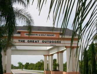 The Great Outdoors R.V. & Golf Resort Entrance