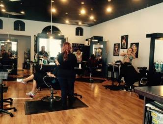 The interior of Transformations Salon Two in Melbourne, FL