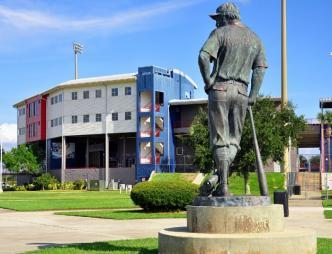 USSSA Space Coast Complex Exterior and Statue