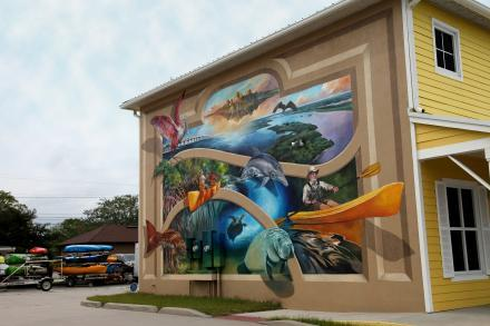 A mural in Downtown Titusville