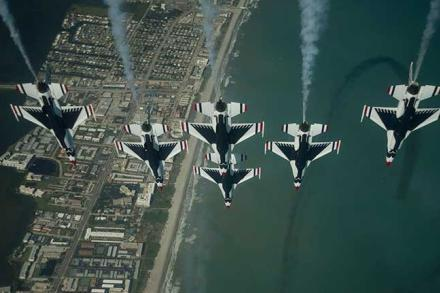 Thunderbirds Flying over Cocoa Beach