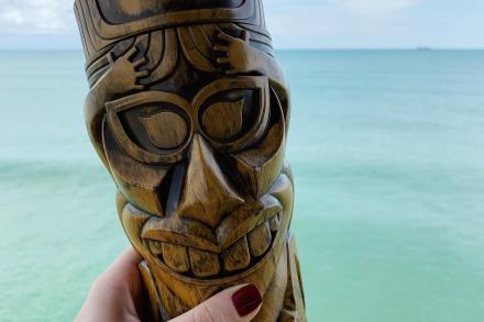 tiki cup over atlantic ocean
