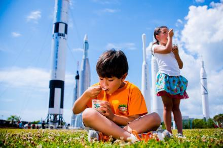 Dippin Dots Ice Cream in Kennedy Space Center Rocket Garden