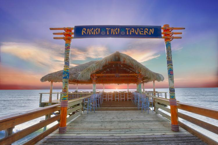 The entrance to the Rikki Tiki Tavern at the Westgate Cocoa Beach Pier
