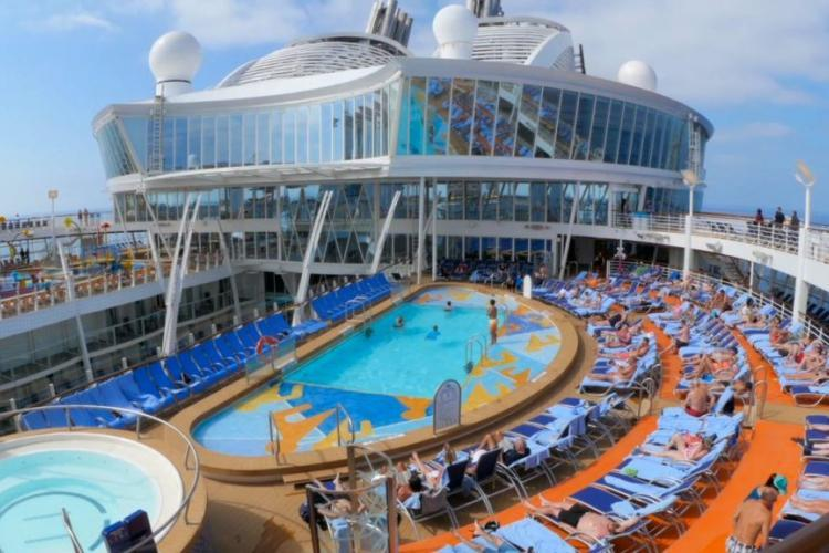 The pool on-board the Royal Caribbean Harmony of the Seas cruise ship