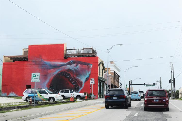 Shark mural in Eau Gallie Arts District